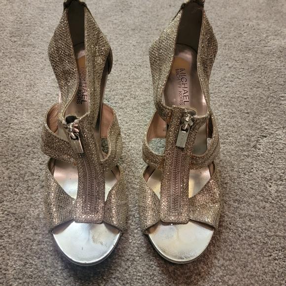 Michael Michael Kors Silver Heels